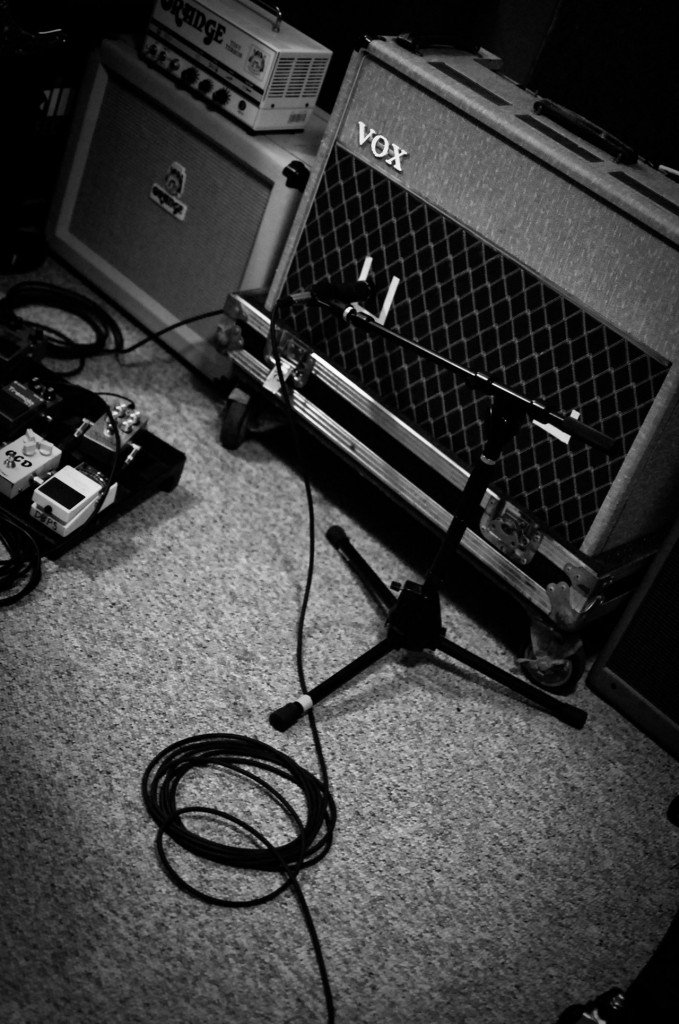 Tube amps galore, including VOX and Orange.